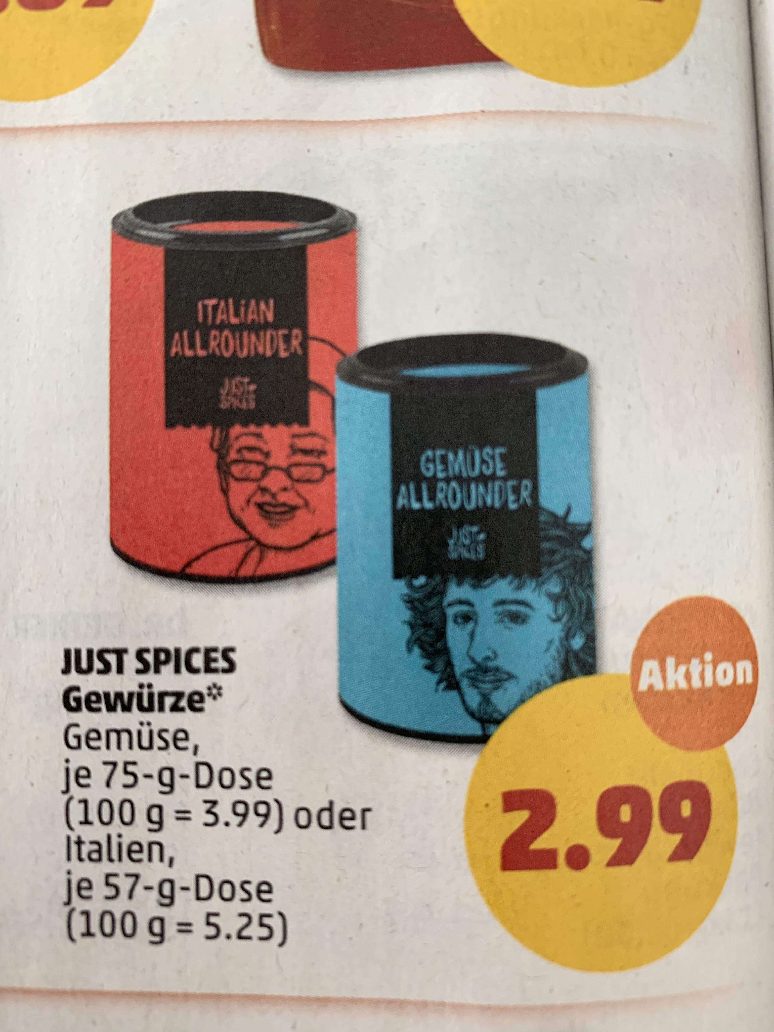 (Penny) Just Spices - verschiedene Sorten