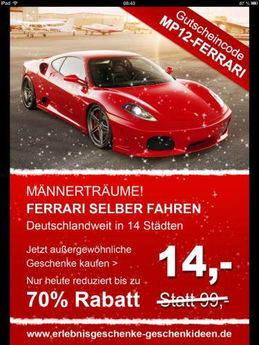 Fast Kostenlos Ferrari fahren...