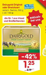 [NETTO MD] Irische Butter Original oder streichzart für 1€ mit Netto-Coupon