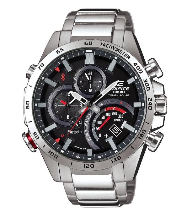 [Uhrzeit.org] Casio Herren Chronograph mit Edelstahl Armband EQB-501XD-1AER - Solar Ziffernblatt und Bluetooth