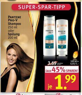 [Rossmann] Pantene Pro V Shampoo / Spülung mit Gutschein für 0,99€