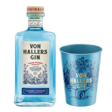 Von Hallers Gin | 0,5l 44% | + Kristall-Glas von Ritzenhoff