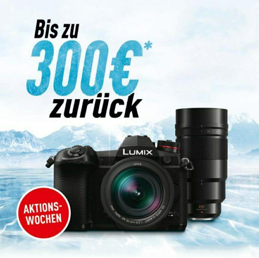Panasonic Cashback: Bis zu 300€ Cashback auf Lumix G-Kameras und Leica-Objektive