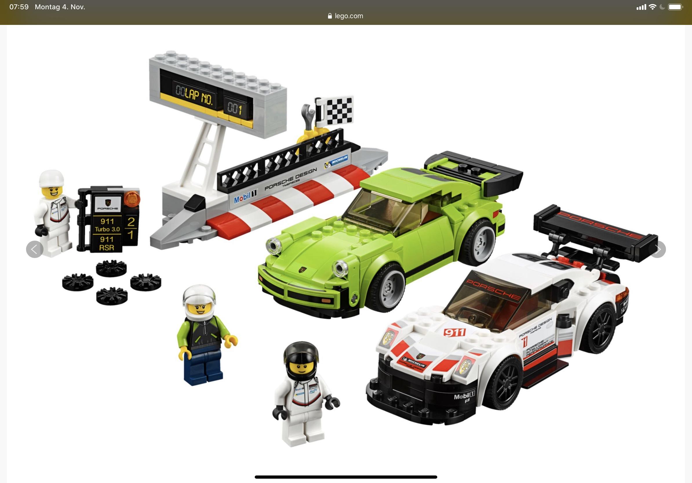 Lego 75888 Speed Champions Porsche 911 RSR und Porsche Turbo bei Interspar.at inkl. Versand nach DE