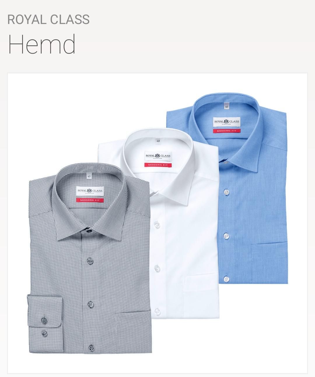 Royal Class Hemden ALDI Nord regular, modern und body fit, bügelfrei