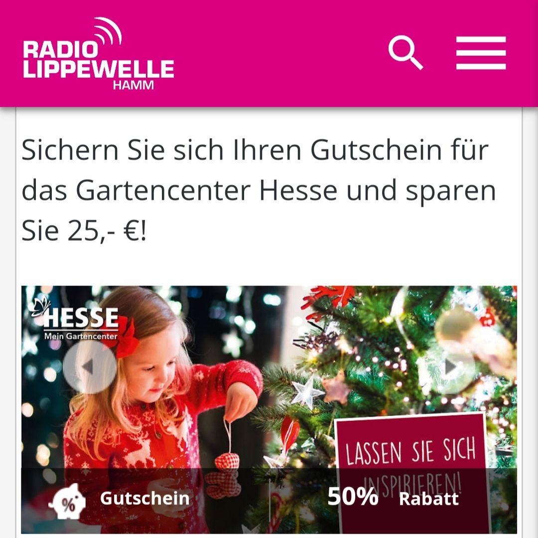 50-Euro-Gutschein für das Gartencenter Hesse in Hamm, Gütersloh, Rheda-Wiedenbrück für 27,50 €