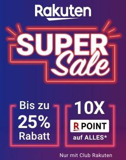 Rakuten Super Sale 2019 mit bis zu 25% Rabatt und 10-fachen Super Points (05.11. 10 Uhr bis 11.11. 18 Uhr), u.a. LG OLED65C9/7