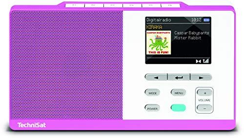 TechniSat Kira 1 tragbares DAB Radio (DAB+, UKW, Radiowecker, Direktwahltaste Kinderradio-Kanal, Favoritenspeicher, Kopfhöreranschluss)