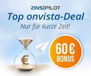 ZINSPILOT: 60€ Bonus für Kontoeröffnung mit Anlage (Tages- / Festgeld) ab 1000€