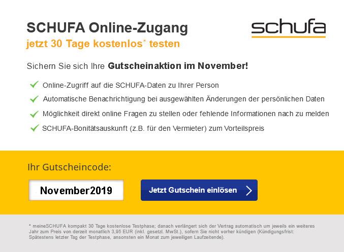 30 Tage Schufa Online testen