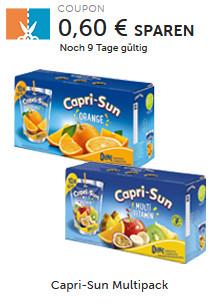 Couponplatz - Capri-Sun Multipack beim Kauf einer Multipackung (10x200ml) Capri-Sun Orange oder Multivitamin.