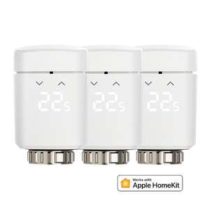 3er Pack Eve Thermo Funk Heizkörperthermostat 2017er Modell Rev 2 Apple HomeKit