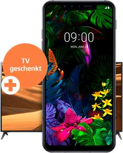 "LG G8s ThinQ (6,2"" AMOLED, SD855, 6/128GB, 3550mAh, Qi, AnTuTu 371k) + 43"" UHD TV (43"" IPS Direct UHD, 50 Hz, 8 Bit FRC)"