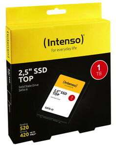 Intenso SSD interne Festplatte Top High-Speed 3D-Nand 2,5 Zoll 1TB SATA III