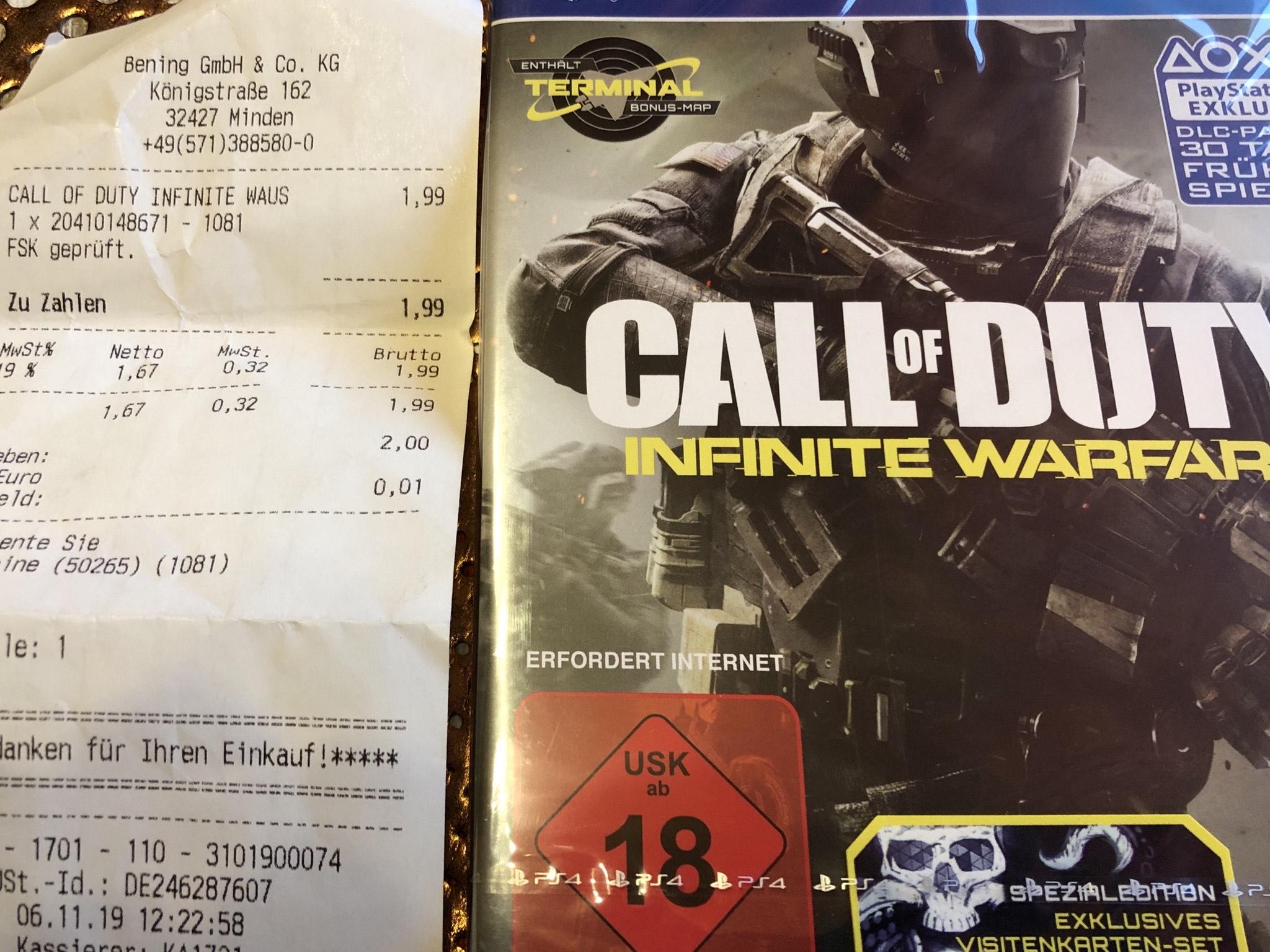 CALL of DUTY infinite warfare (Lokal?) Expert Bening Minden