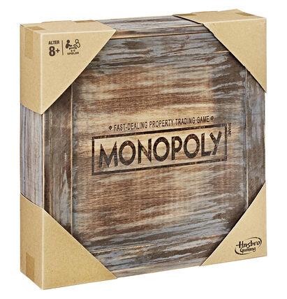 Galeria Karstadt Brettspiel Gesellschaftsspiel Hasbro Monopoly Holz Sonderedition