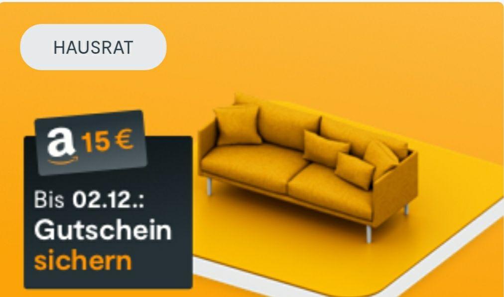 HUK24 Hausratversicherung abschließen und 15€ Amazon-Gutschein erhalten