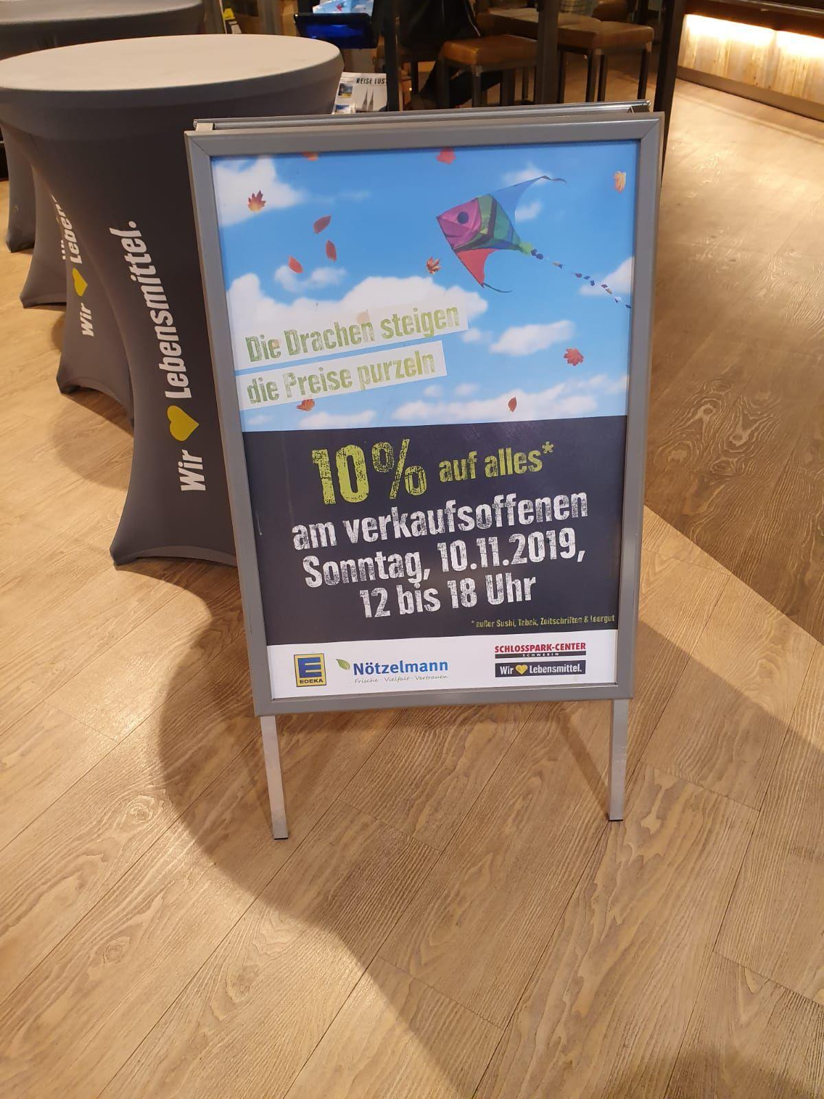 [Edeka Schwerin Nötzelmann] 10% auf (fast) alles am verkaufsoffenen Sonntag