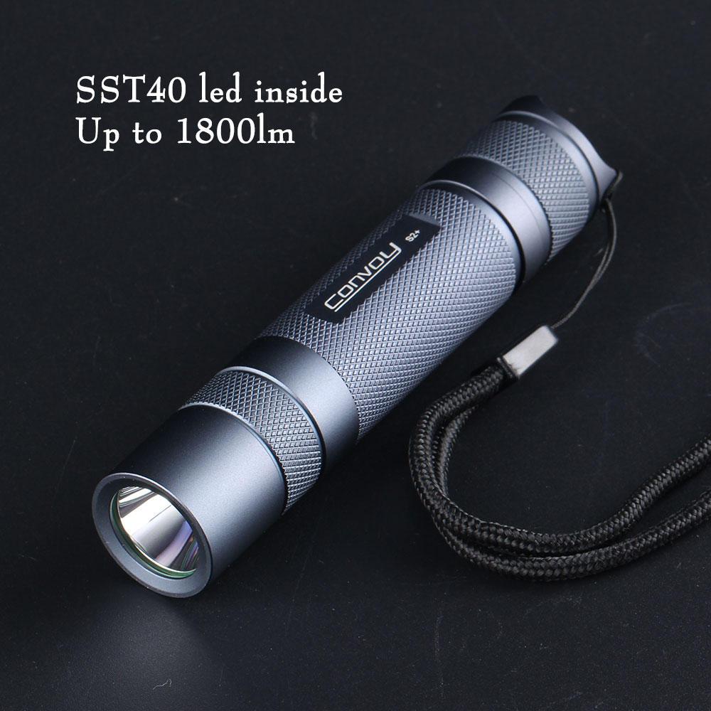 Taschenlampe Convoy S2+ neue Version SST40 LED 1800lm 5000K oder 6500K (18650)