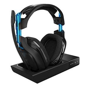 ASTRO Gaming A50 Headset (kabellos) + Basisstation (3. Generation) Dolby 7.1 Surround Sound (kompatibel PlayStation 4, PC, Mac) schwarz/blau