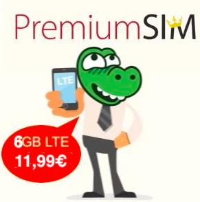 6GB bei PremiumSIM für mtl. nur noch 11,99€ statt 14,99€ (monatlich kündbar / 24-Monatsvertrag, Telefonica-Netz, Allnet + SMS Flat)