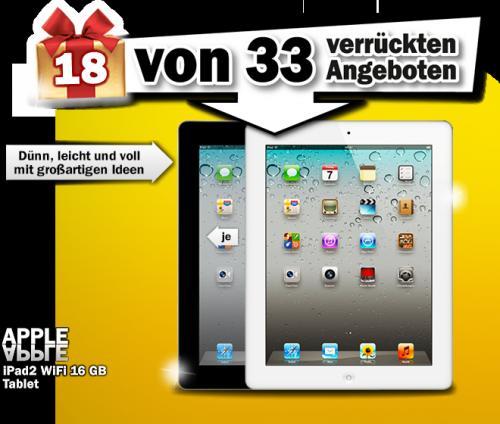 Media Markt Adventskalender - Ipad2 16GB Wifi für 333€ - zu teuer :-)