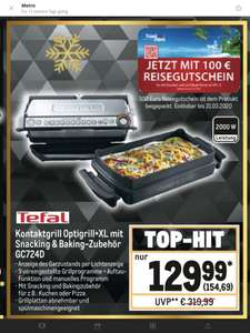 [Metro] Tefal Optigrill+ XL GCD724D mit Snacking & Backing Schale