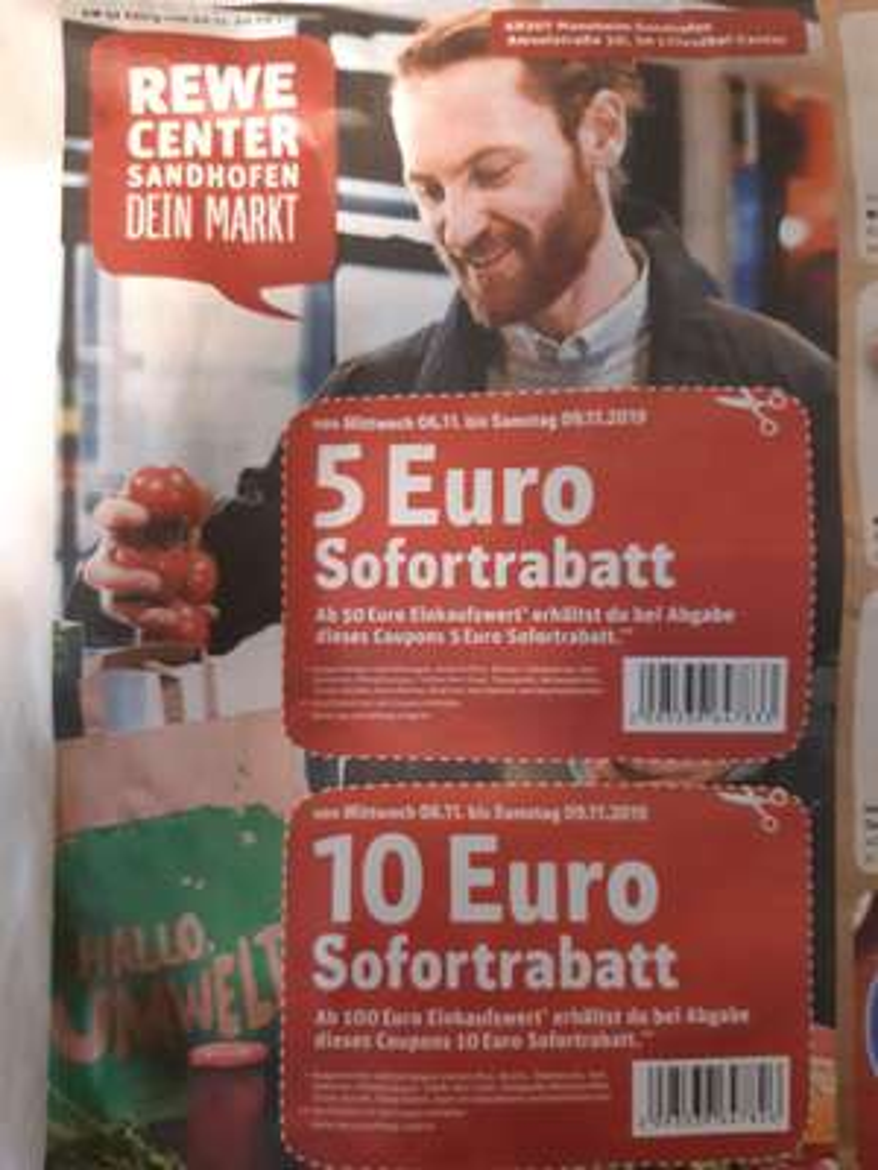 Lokal Mannheim bis zu 10€ Rabatt bei Rewe