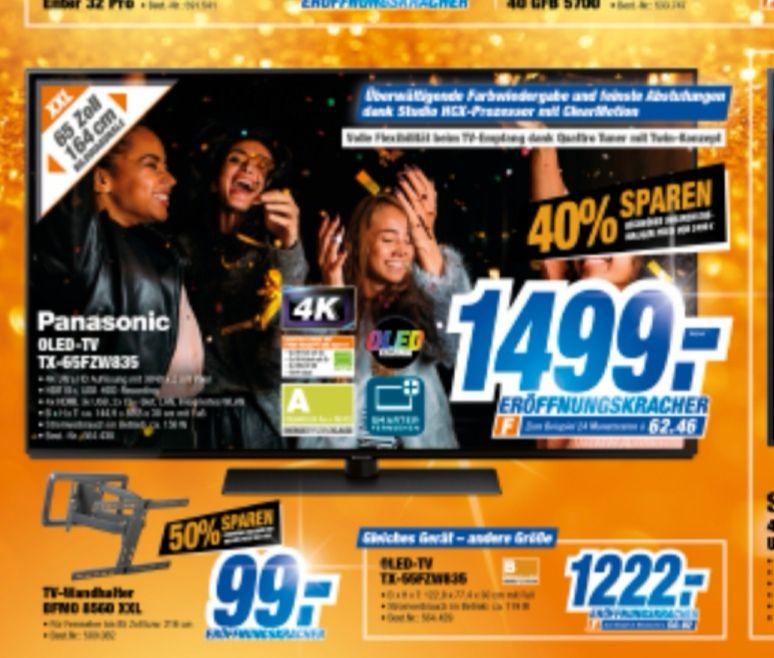 [Lokal Expert TeVi] Panasonic Oled- TV TX-65FZW835 4K HDR, 55Zoll für 1222€