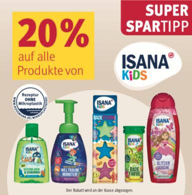 Rossmann-Deals in der Übersicht für die Aktionswoche (KW46), z.B. 20% Rabatt auf Isana Kids