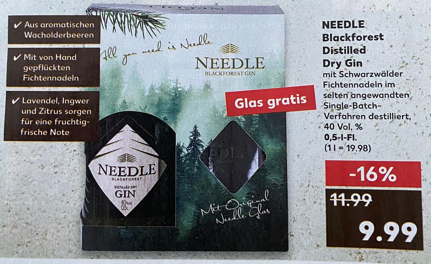 NEEDLE Gin 0,5 l für 9,99€ inkl. Glas (Kaufland)