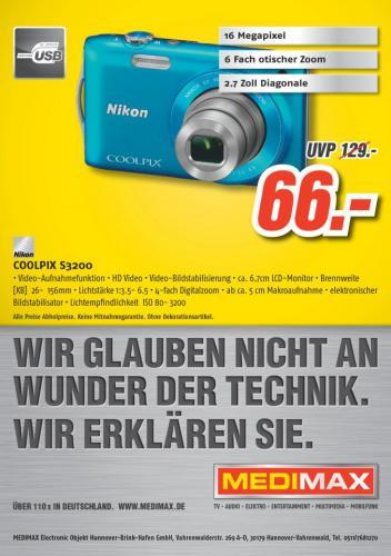 [Lokal Hannover] - Nikon S3200 (Verschiedene Farben)