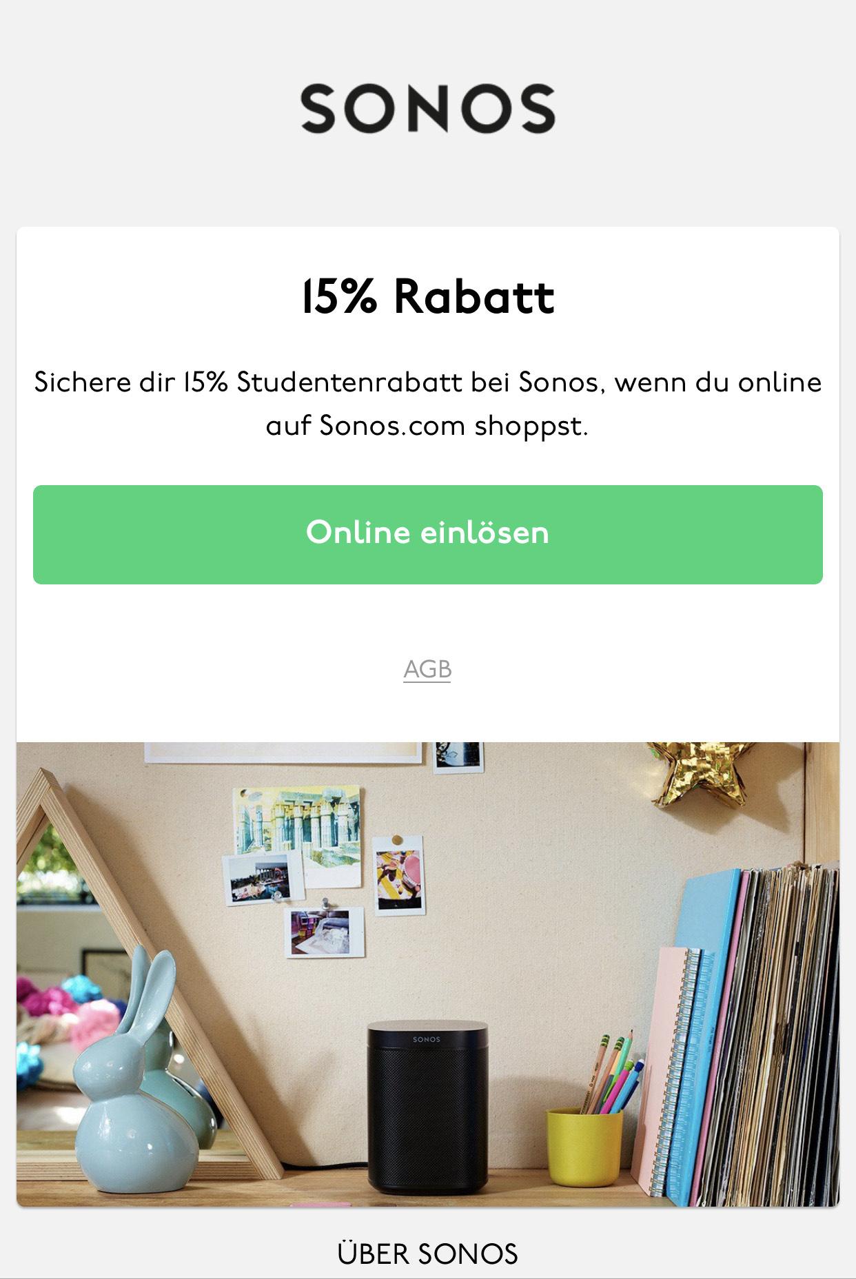 [Unidays] 15% bei Sonos (z.B. Sonos Move für 339,15€)