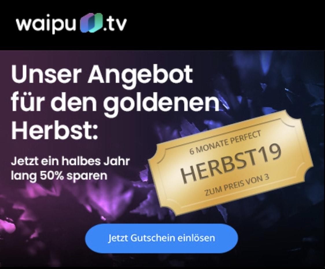 Waipu.tv 50% auf das Perfect-Paket