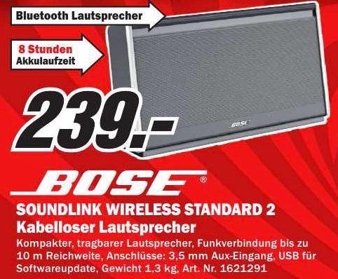 Bose Soundlink Wireless Standard II @MM (lokal?)