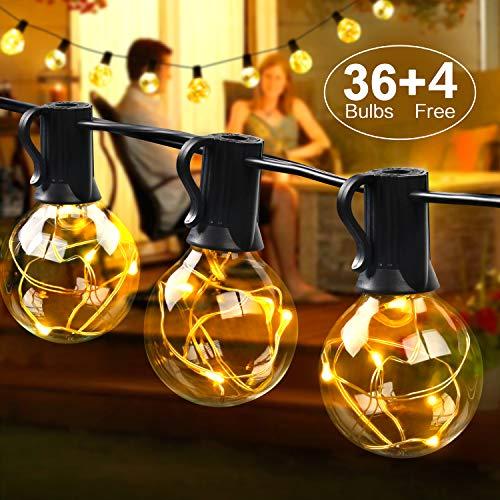 MYCARBON LED Lichterkette außen 12.5M 36er Birnen wasserdicht Lichterkette Innen Weihnachtsbeleuchtung 23€