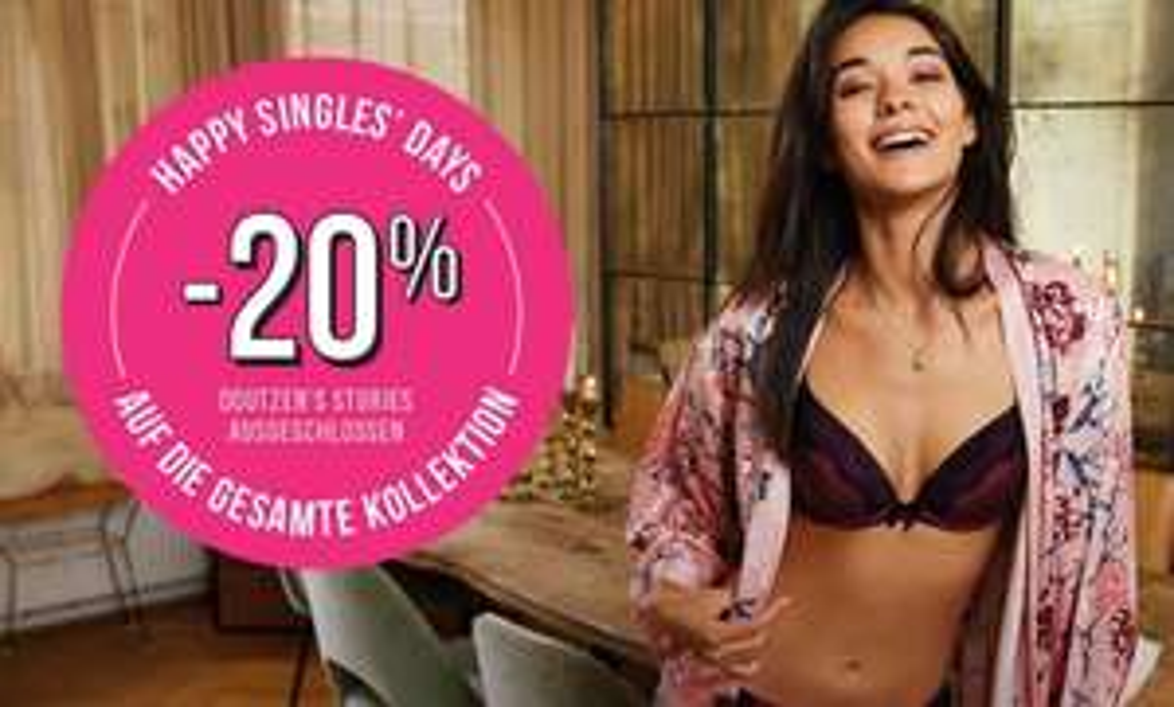 Hunkemöller: 20% Rabatt auf die gesamte Kollektion (Singles' Day)
