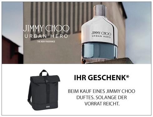 Jimmy Choo Man Duftset & Gratis-Zugabe Jimmy Choo Parfums Rucksack [Galeria Karstadt Kaufhof]