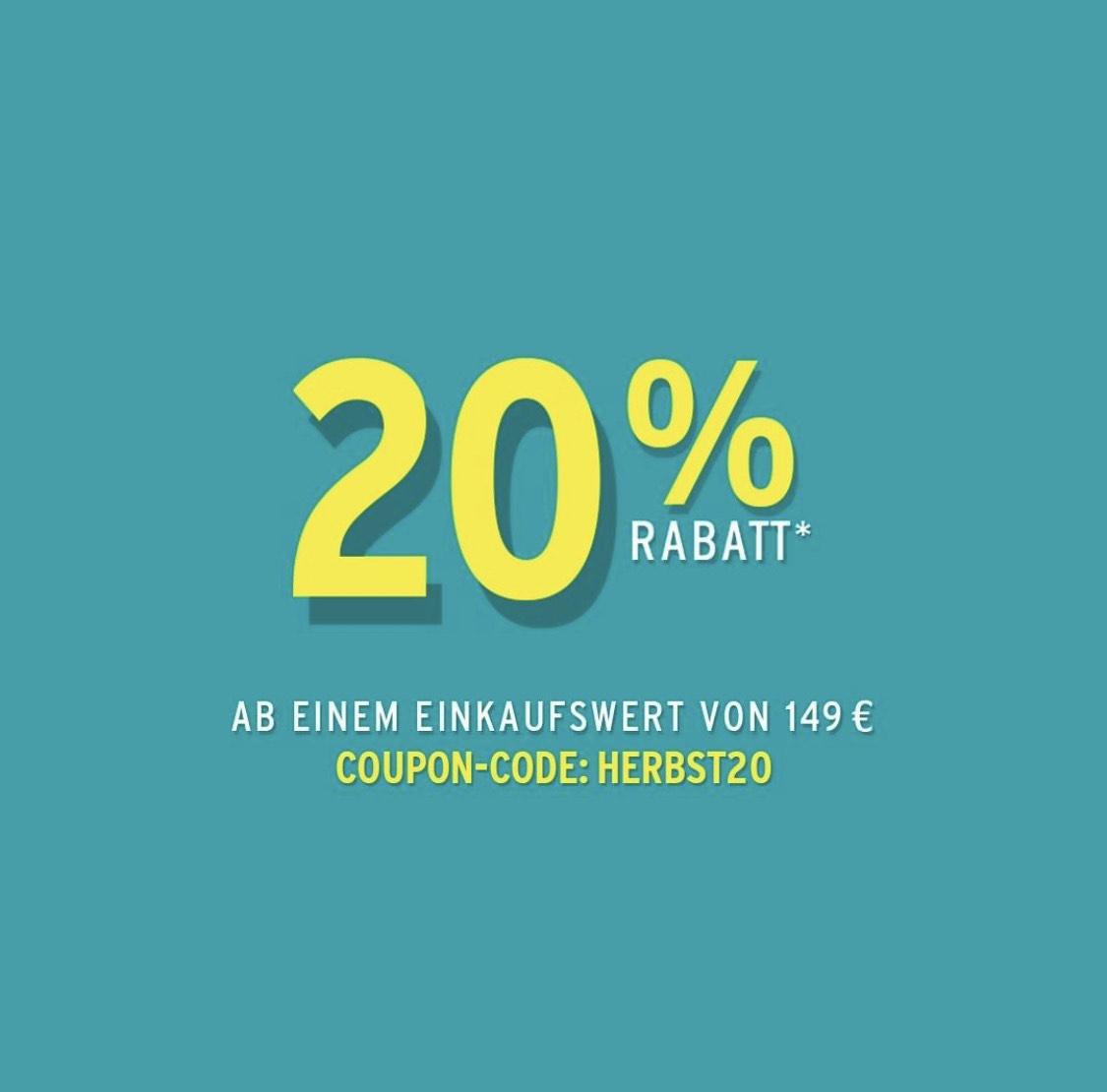 20% auf alles ab 149 Euro Einkaufswert bei ansons