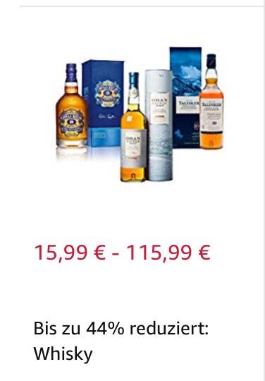 Whisky bis zu 44% reduziert z.B. Highland Single Malt Scotch Whisky Aberfeldy