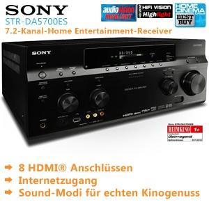Netzwerk AV Receiver: Sony ES 7.2 STR DA5700ES Home Entertainmentsystem inkl. Versand 1.208,90€ (Vergleich 2.098€)