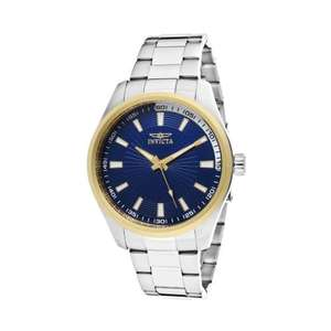 Invicta Watch Specialty Men's Quartz Watch with Blue Dial Analogue Display and Silver Stainless Steel Bracelet 12826, 12828 oder 12829 bei AMAZON.CO.UK