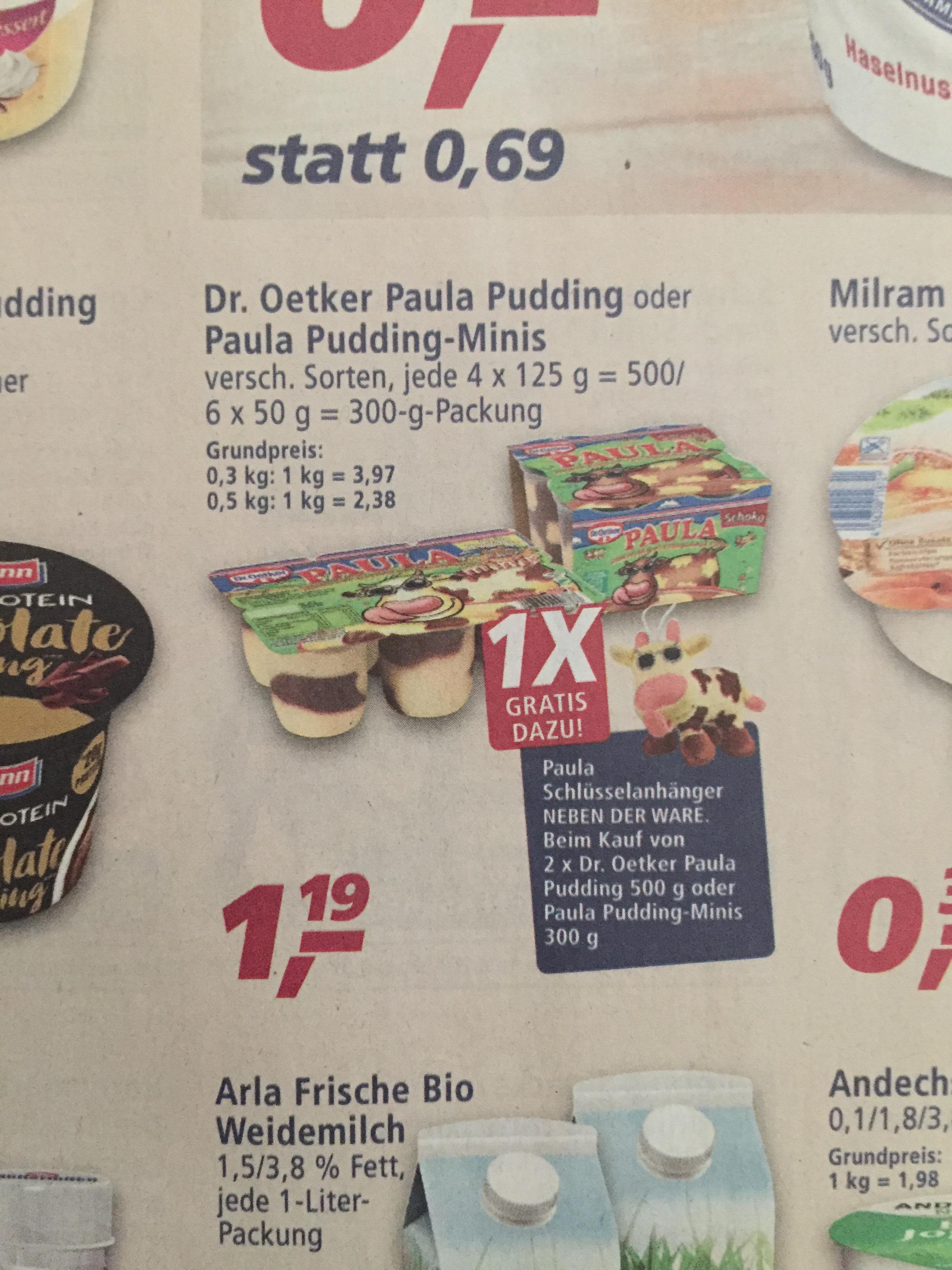 Bei real ist ab Montag Dr. Oetker Paula Pudding im Angebot und bei Coupies gibts 0,40€ Cashback und 0,40€ Coupon von Couponplatz