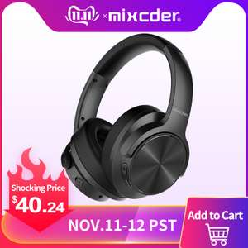 [Singles Day] Mixcder E9 Bluetooth Kopfhörer - ANC - 32Ω Widerstand