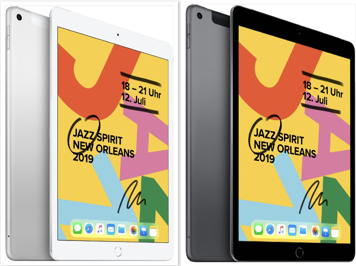 Apple iPad 10.2 WiFi 32GB Neues Modell 2019 Spacegrau o. Silber für 301,70€ inkl. Versandkosten