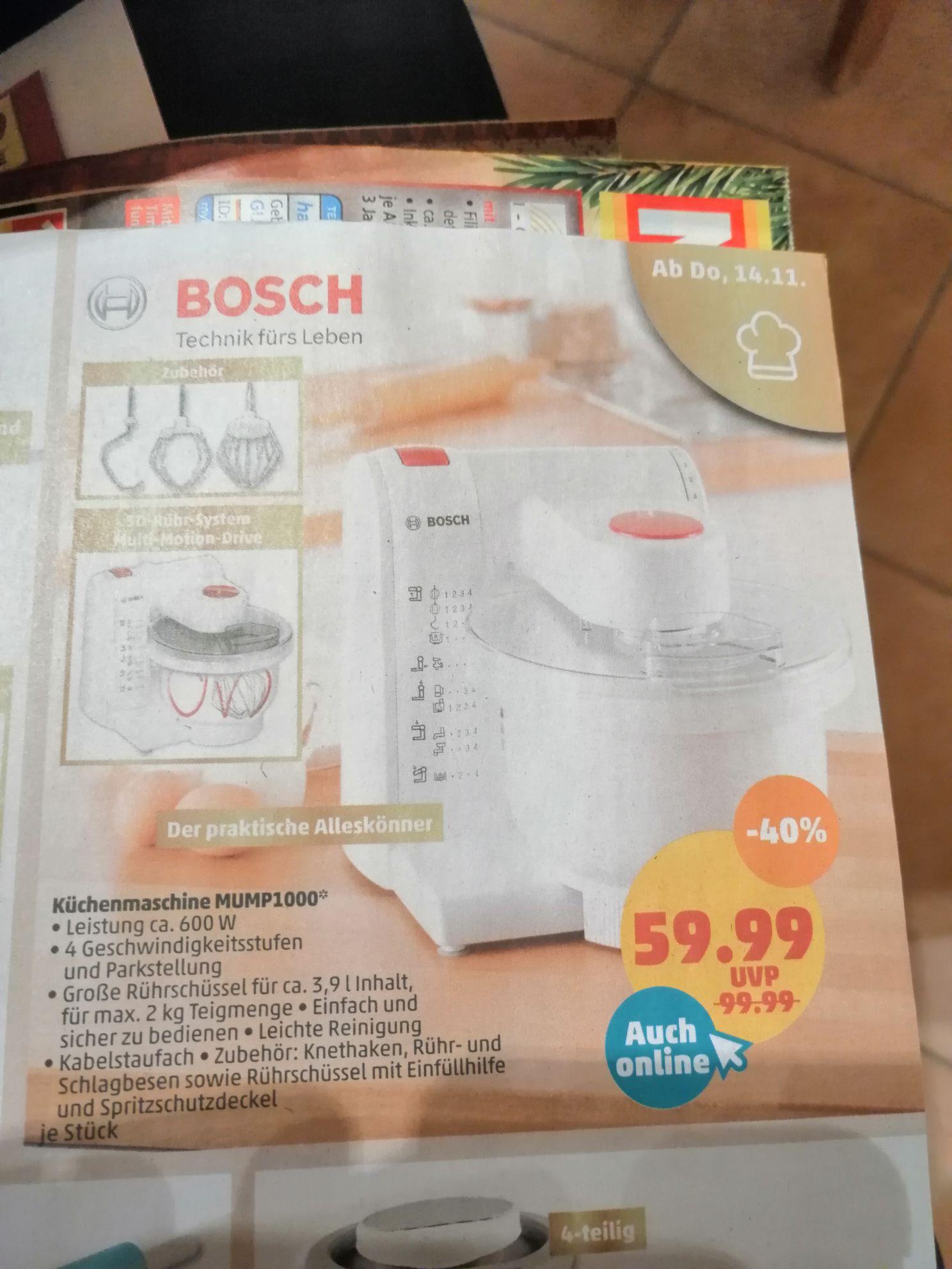 Bosch Küchenmaschine Mump1000 600watt bei Penny ab 14.11