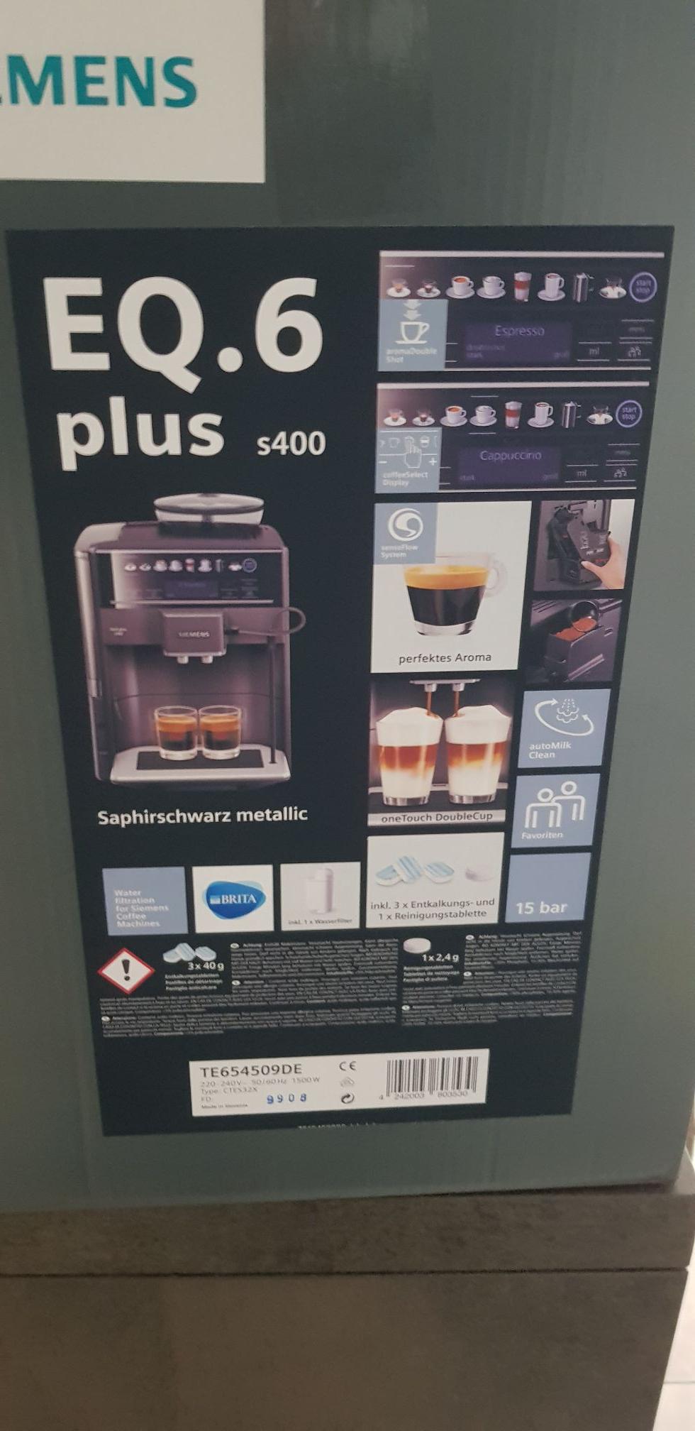 (Lokal Braunschweig) Für Uns Shop - Siemens EQ6 plus S400