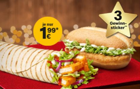 McChicken Classic & McWrap Chicken Sweet Chili bis 2020 für 1,99€ & Monopoly-Start sowie 10% Rabattcoupon auf alles außer Non-Food