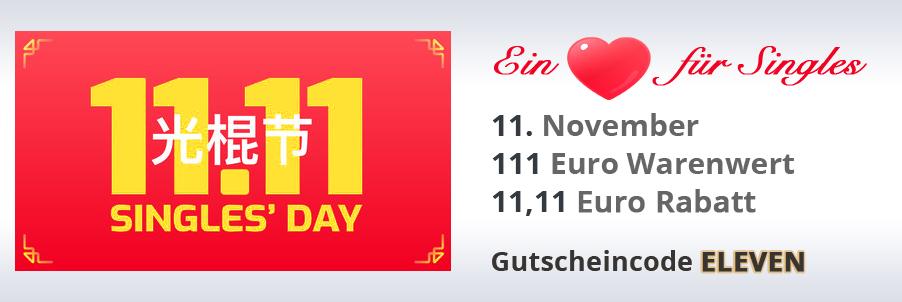 11,11€ Rabatt ab 111€ Einkauswert zum Singles' Day auf buyZOXS.de