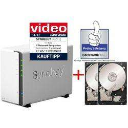 CYBERPORT: Synology Diskstation DS212j NAS System 4TB (2x 2TB Seagate ST2000DM001)